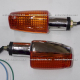 Direccionales Universales Ambar (cromadas) - Italika FT125 / FT150 / DT125 / DT150 / FT110 / Custom