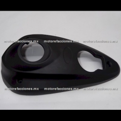 Cubierta Union Trasera Inferior Motoneta Italika GS150 / GTS175 - Vento Phantom 9i (Negro Brillante)