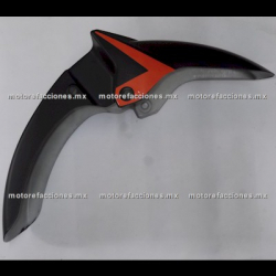 Salpicadera Trasera Italika 150Z (negro c/ naranja)