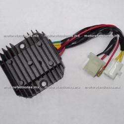 Regulador 7 puntas 2 conectores + 1 - Vento Triton - Italika TS170 / GTS175 / GTS175 LED
