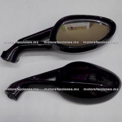 Espejos p/ Motoneta Grandes - Negro (Par)