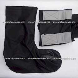 Zapatones Impermeables (Par) para Moto talla G (negro)