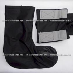 Zapatones Impermeables Reforzados (Par) para Moto talla G (negro)