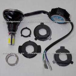 Foco Bi-Xenon-LED Universal para Faro (luz blanca) - 4 Unidades c/ Cooler - ALTA Y BAJA