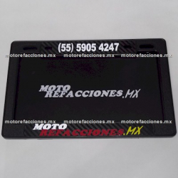 Porta Placa 220mm - Motorefacciones.Mx (fibra carbono)