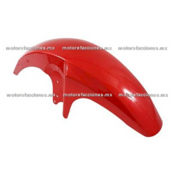 Salpicadera Delantera Completa Motocicleta Italika FT125 (rojo)