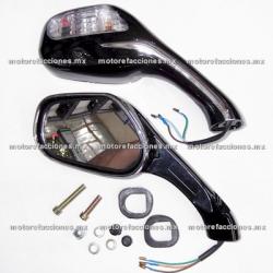 Espejos Motoneta c/ Luz (negroc/ cromo)