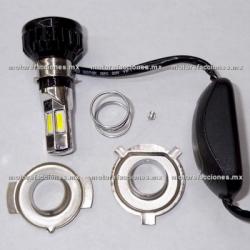 Foco Bi-Xenon-LED Universal para Faro (luz blanca) - 6 Unidades c/ Cooler - ALTA Y BAJA