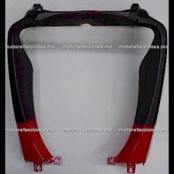 Cubierta Frontal Inferior (panel o encarenado) Motoneta Italika WS150 (Rojo c/ Negro Mate)