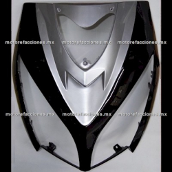 Cubierta de Faro Motoneta Italika DS150 - Vento Phantom R5 - Carabela VX150 - Dream Siluete (Negro Brillante c/ Plata)