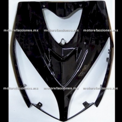 Cubierta de Faro Motoneta Italika DS150 - Vento Phantom R5 - Carabela VX150 - Dream Siluete (Negro Brillante Liso)