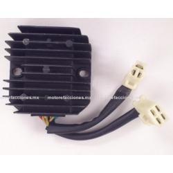 Regulador 7 puntas 2 conectores - Vento Triton - Italika TS170 / GTS175 / GTS175 LED