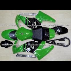 Cubiertas Completas Pocket (Pistera) Verde c/ Negro