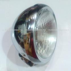Faro Universal Cromado Corto - Motocicletas tipo Custom (Choper) - ECONOMICO