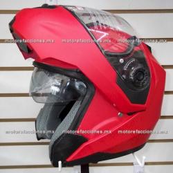 Casco Integral Abatible c/ Gafas - JK110W (rojo mate) talla XG