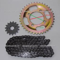 Kit de Sproket, Piñon y Cadena Reforzada - (38/15T + 428H) - Honda CGL125 Tool