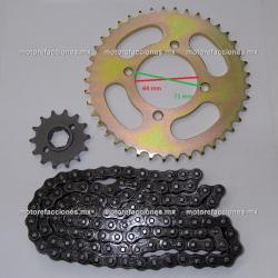 Kit de Sproket, Piñon y Cadena Reforzada - (41/14T + 428H) - Italika 150Z / 150SZ
