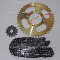 Kit de Sproket, Piñon y Cadena Reforzada - (45/14T + 428H) - Italika 170Z