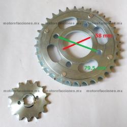 Kit de Sproket y Piñon - (32/14T ) - Toromex 250cc