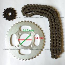 Kit de Sproket, Piñon y Cadena - (40/14T + 420) - Italika ST70 / ST90