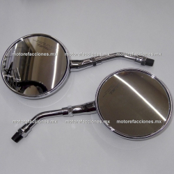 Espejos Redondos ORIGINALES - Italika Vitalia 125 / Vitalia 150 - Cromados (10mm)