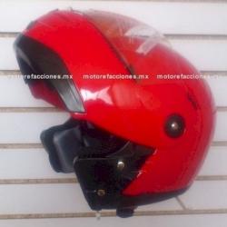 Casco Integral Certificado Abatible - JK111 (rojo liso) talla G