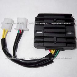 Regulador 6 puntas 2 conectores - Honda CBR600 y motos 250 a 600cc - Italika TS170 / GTS175 / GTS175 LED