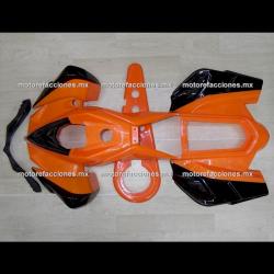 Cubiertas Completas Pocket (Mini Cuatrimoto) Naranja c/ Negro