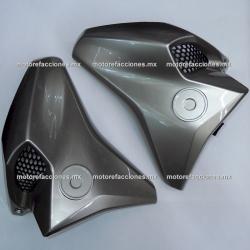 Guias de Aire con Rejilla Yamaha FZ 2.0 / FZs 2.0 / Fazer 150 2.0 (de Tanque) - (Titanio)
