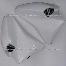 Guias de Aire con Rejilla Yamaha FZ16 2.0 / FZs 2.0 / Fazer 150 2.0 (de Tanque) - (Blanco)