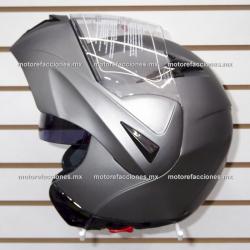 Casco Integral Abatible c/ Gafas CERTIFICADO - (Negro Mate) talla XL