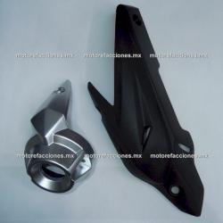 Cubiertas de Escape Yamaha FZ 2.0 / FZs 2.0 / Fazer 150 2.0 (Negros) - 2 Pzas