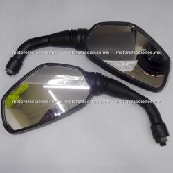 Espejos Negros Grandes (10mm) - Bajaj Pulsar 200NS