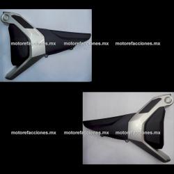 Cubiertas Laterales Yamaha FZ 2.0 / FZs 2.0 / Fazer 150 2.0 (Negro c/ Arena) - (par)