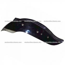 Salpicadera Trasera Custom Corta Universal (Negro Brillante)