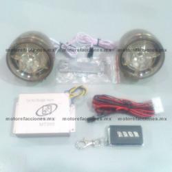 Alarma Sensor FM y MP3 (Tarjeta SD y USB) - Bocinas Transparentes