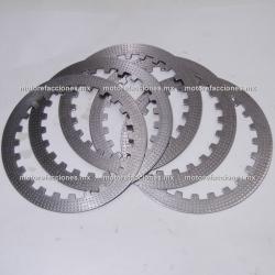 Discos (platos) de Clutch Motocicletas ( pzas) - Italika 250Z / 250SZ / FT200 / FT250 / FT250 TS / RT180 / TC200 / TC250