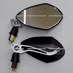 Espejos ECONOMICOS - Aluminio Medianos - Negro c/ Gris (10mm)
