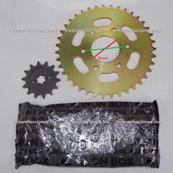 Kit de Sproket, Piñon y Cadena Reforzada - (39/14T + 520H) - Bajaj Pulsar NS200
