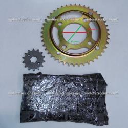 Kit de Sproket, Piñon y Cadena Reforzada - (44/14T + 428H) - Honda Titan 125