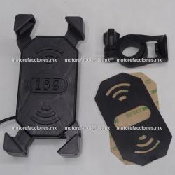 Soporte Celular Extrella para Moto con Cargador USB
