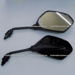 Espejos Negros Grandes (10mm) - Italika AT110 RT LED / DT200 / FT200 / FT250 / FT250 TS