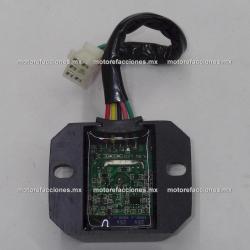 Regulador 5 puntas hembra c/ LED - 125 y 150cc (Indicadores LED de funcionamiento)