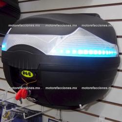 Baul de Lujo Ovalado c/ LED RGB (Programable) y Respaldo Suave 40 Lts (7 Colores a Elegir)