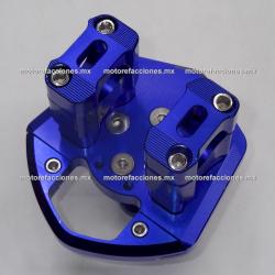 Base para Manubrio Aluminio Universal Motonetas (Azul)