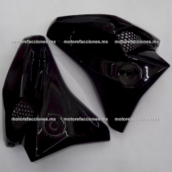 Guias de Aire con Rejilla Yamaha FZ16 2.0 / FZs 2.0 / Fazer 150 2.0 (de Tanque) - (Negro Brillante)