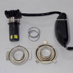 Foco Bi-Xenon-LED Universal para Faro (luz blanca) - 3 Unidades SIN Cooler - ALTA Y BAJA