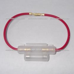 Porta Fusible Sencillo (fusible de cristal) con Fusible 10 Amperes