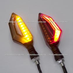 Direccionales LED Media Flecha c/ Cuarto (Ambar c/ Cuarto o Stop Rojo)