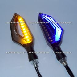 Direccionales LED Media Flecha c/ Cuarto (Ambar c/ Cuarto o Stop Azul)